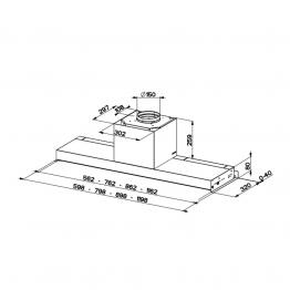 Hota incorporabila Faber In-Nova Premium X A60 110.0439.940, putere de absorbtie 670 mch, filtru metalic, 60 cm, inox
