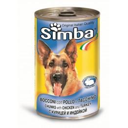Conserva cu carne de pui si curcan Simba 1230 g