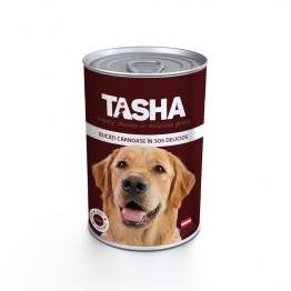 Conserva cu carne de vita Tasha 415 g