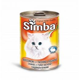 Conserva cu carne de curcan pentru pisici Simba Cat 415 g