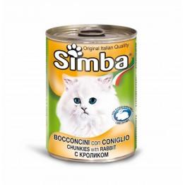 Conserva cu carne de iepure pentru pisici Simba Cat 415 g