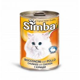 Conserva cu carne de pui pentru pisici Simba Cat 415 g