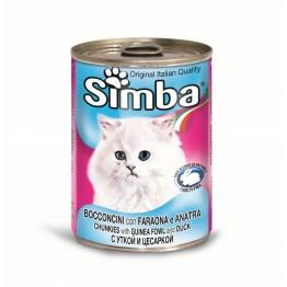 Conserva cu carne de rata pentru pisici Simba Cat 415 g