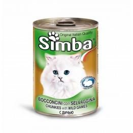 Conserva cu carne de vanat pentru pisici Simba Cat 415 g