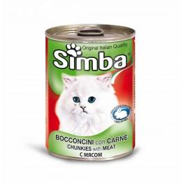 Conserva cu carne de vitel pentru pisici Simba Cat 415 g