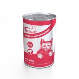 Conserva pentru pisici cu vita Mitzura 415 g