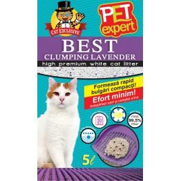 Asternut igienic din betonina cu lavanda Pet Expert 5 l