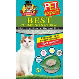 Asternut igienic din betonina natural Pet Expert 5 l