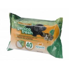 Servetele umede pentru caini si pisici cu green tea Ferplast 40 buc