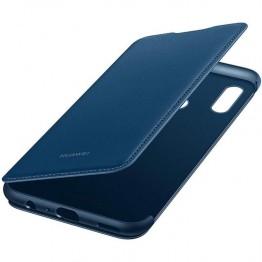 Husa protectie smartphone Huawei Flip Cover pentru P Smart 2019, albastru