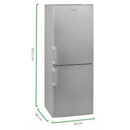 Combina frigorifica Arctic AK54240S+, capacitate 240 l, Clasa A+, argintiu