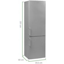 Combina frigorifica Arctic ANK366BS+, capacitate 334 l, Clasa A+, argintiu