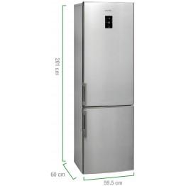 Combina frigorifica Arctic ANK366NFX+, capacitate 321 l, Clasa A+, Full No Frost, inox