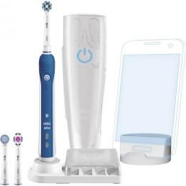 Periuta de dinti electrica Oral-B Smart Series 5000 CA, Bluetooth 4.0, mod de curatare 3D, alb/albastru