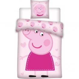 Set lenjerie pat copii Peppa Pig 100x135 + 40x60 SunCity