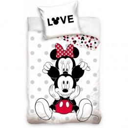 Set lenjerie pat copii Minnie Love 140x200 + 70x90 SunCity