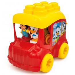 Clemmy Autobuz Mickey cu cuburi Clementoni