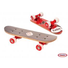 Mini Skateboard rosu 43 cm FunBee DArpeje