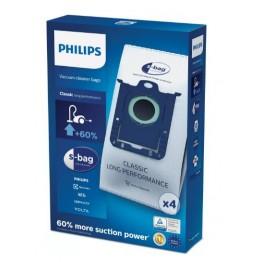Saci aspirator material sintetic Philips s-bag Classic Long Performance FC8021/03, 4 buc