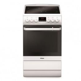 Aragaz electric Hansa FCCW58209, 4 zone de gatit, cuptor electric, grill, alb