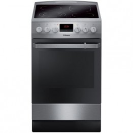 Aragaz electric Hansa FCCX59129, 4 zone de gatit, cuptor electric, grill, rotisor, clasa A, inox