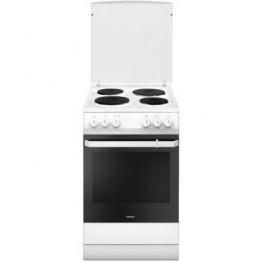 Aragaz electric Hansa FCEW59009, 4 zone de gatit, cuptor electric, grill, clasa A , alb