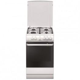 Aragaz pe gaz Hansa FCGW521109, 4 arzatoare, timer, rotisor, grill, aprindere electrica, alb