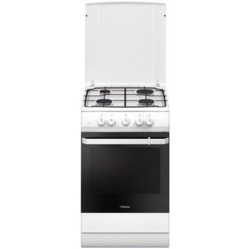 Aragaz mixt Hansa FCMW530009, 4 arzatoare, cuptor electric, clasa A, alb