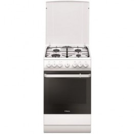 Aragaz mixt Hansa FCMW581009, 4 arzatoare, cuptor electric, grill, clasa A, alb