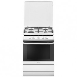 Aragaz mixt Hansa FCMW63000, 4 arzatoare, grill, clasa A, alb