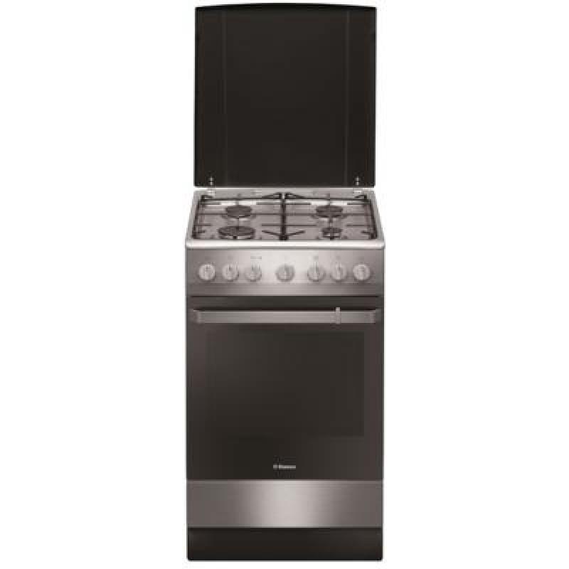 Aragaz mixt Hansa FCMX581009, 4 arzatoare, grill, cuptor electric, clasa A, inox