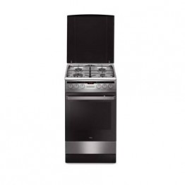 Aragaz mixt Hansa FCMX59221, 4 arzatoare, grill, rotisor, cuptor electric, clasa A, inox