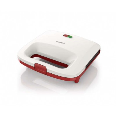 Sandwich maker Philips Daily Collection HD2392/40, putere 820 W, alb/rosu