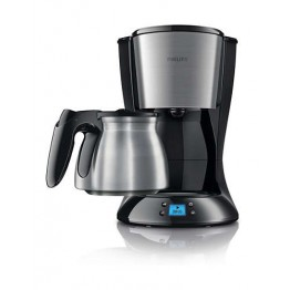 Cafetiera Philips Daily Collection HD7470/20, putere 1000 W, capacitate 1.2 l, negru/inox