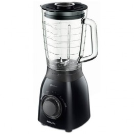 Blender Philips Daily Collection HR2173/90, putere 600 W, capacitate 2 l, ProBlend 5, Impuls, negru