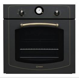 Cuptor electric incorporabil Indesit IFVR500AN, clasa A, capacitate 60 l, grill, negru