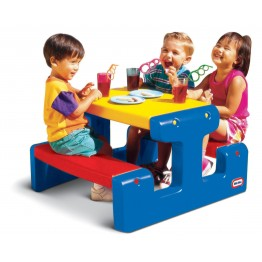 Masuta junior pentru picnic, albastra Little Tikes