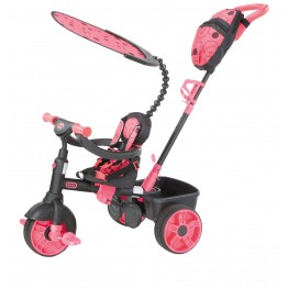 Tricicleta 4 in 1 roz neon Little Tikes