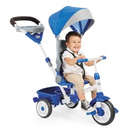 Tricicleta perfect fit 4 in 1 albastra Little Tikes