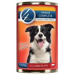 Conserva cu carne de vita 4Dog 125 g