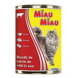 Conserva cu vita pentru pisici Miau-Miau 415 g