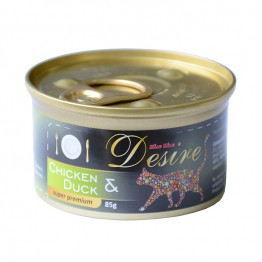 Conserva pui file si rata in gelatina Miau-Miau Desire 85 g