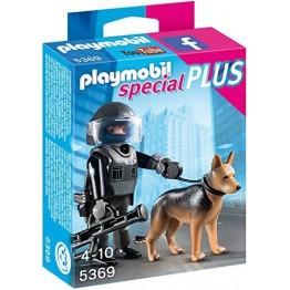 Echipa de politie cu caine Playmobil