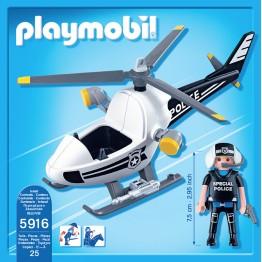 Elicopterul politiei Playmobil