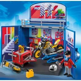 Cutie de joaca Atelierul secret pentru motociclete Playmobil