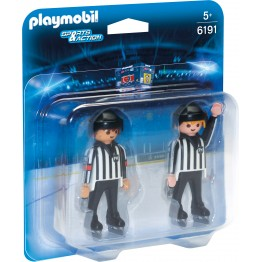 Echipa de arbitraj la hochei Playmobil