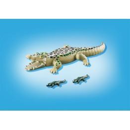 Aligator cu pui Playmobil