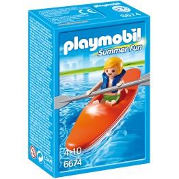 Copil cu canoe Playmobil
