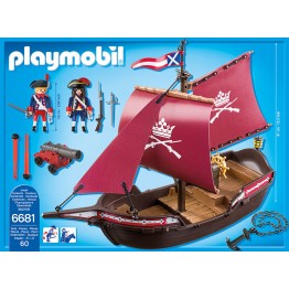 Barca soldatilor cu tun Playmobil