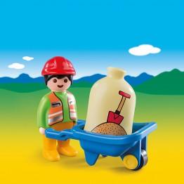 Muncitor cu roaba Playmobil